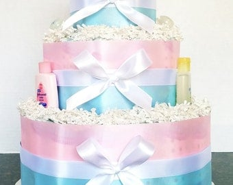 It's a boy/ It's a girl diaper cake