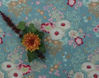 Tilda Cabbage Rose FQ / Tilda Newest Collection / Lucille Turquois / Fat quarter