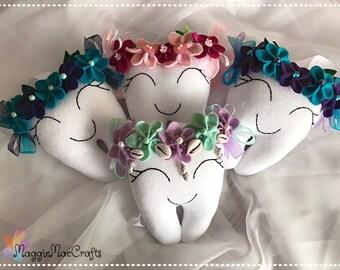Flower tooth fairy pillow