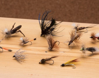 Dirty Dozen || 12 fly assortment || hand tied flies