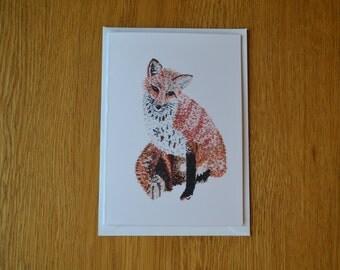Fox Greetings Card, Foxy Valentine's Day Card, British Wildlife Greetings Card, Any Occasion Greetings Card, Blank Inside Card, Fox Love