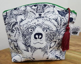 Woodland creatures make up purse with tassel