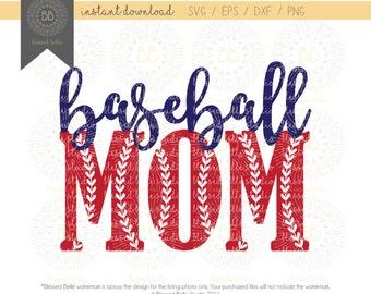 Baseball Mom SVG, girl, baseball svg, eps, dxf, png file, Silhouette, Cricut
