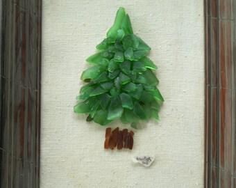 Pearl of the Pines: PEI sea glass Art 12x16