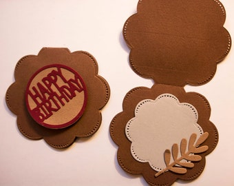 Set of 12 tags for gifts HAPPY BIRTHDAY
