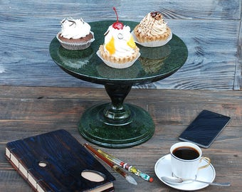 """12"""" Wedding Cake Stand Wooden Cake Stand Topper Cake Stands Antiquity Cake Stand Birthday cake stand"""