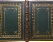 Antique illustrated book, 1884: Canadian Pictures. Indians, pioneers, railroad, ice skating, steamship, vintage color map, Native Americans