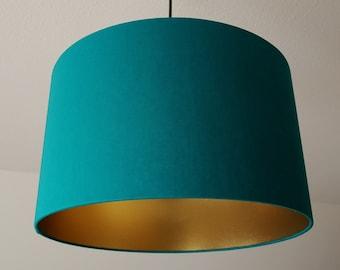 "Lampshade ""Greenturquoise-Gold"""