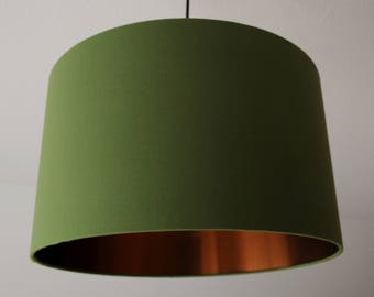 "Lampshade ""Olivegreen-copper"""