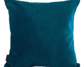 Velvet Cushion, Luxurious Italian Velvet Teal Cushion