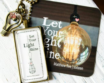 Necklace-Let Your Light Shine-Edison Bulb
