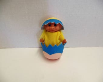 Vintage Easter Chick Troll Doll