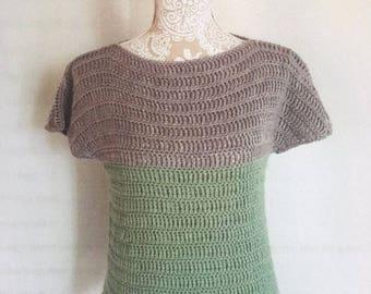 Crochet UK PATTERN Summer Tee-Jumper by Nai Nai Makes. Reduced price!