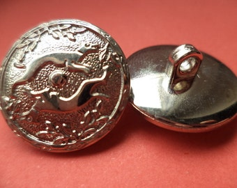 10 buttons silver 20mm (320) button