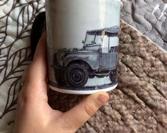Land-Rover series I Ocean Drinking mug