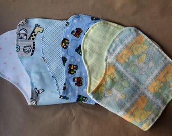 Baby Boy Burp Cloths, Soft Flannel Burp Cloths Set, New Baby Boy Burp Cloth Set, Baby Boy Burpers, Burp Cloth Gift Set for Baby Boys