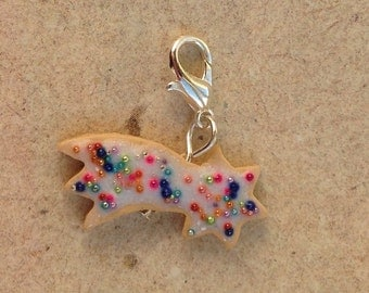 Charm shooting star cookie, pastry
