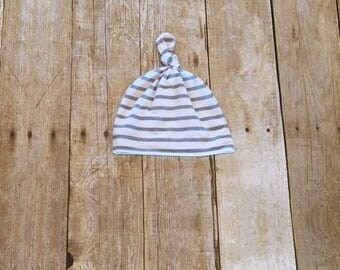 Baby hat, knot hat, striped hat