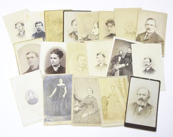 Original Antique Photographs and Tintypes Portraits of Woman and Children Old and Young