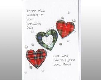 Wedding Three Hearts Card WWWE56