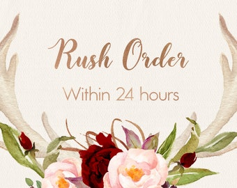RUSH ORDER add on, within 24h order, Order Upgrade, Rush my printable digital files