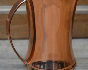 Copper plated glass bottomed tankard