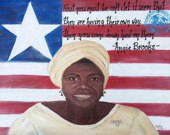 Angie Brooks, united nations, liberia, portrait, alpha kappa alpha, liberty, liberian UN rep, aka sorority, quotes, liberian supreme