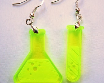 Mischief After Midnight - Bubble, Bubble, Toil and Trouble chemistry set dangle earrings