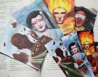 Four Elements Bookmarks + Four Postcards