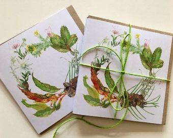 Australian wreath cards