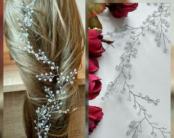 Long hair vine,Crystals Bridal Wedding Headband Bridal Headpiece Hairpiece Bridal Hair Vine 13