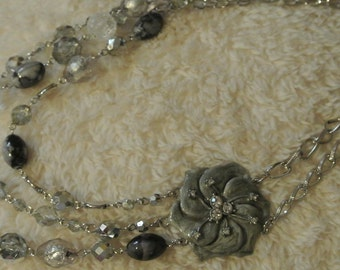 A Three Strand Statement Necklace