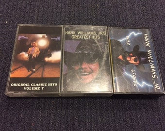 Vintage 1990's Hank Williams Jr. Cassette Tapes