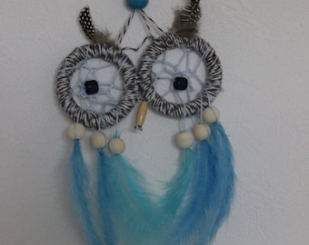 OWL decorative way dream-catcher, room toddler natural feathers of birds of paradise