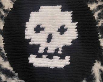 Skull toilet cover
