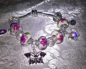 Beautiful Fibromyalgia themed charm bracelet!