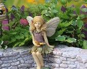 "Miniature Fairy Figurine, 2 3/4"" tall, Spring Fairy"
