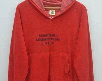 UMBRO Distressed Hoodies Vintage 80's Umbro Rugby Pullover Sweater Sweatshirt Hoodies Size L