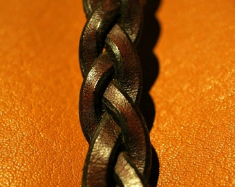 Impossible Plait leather bracelet