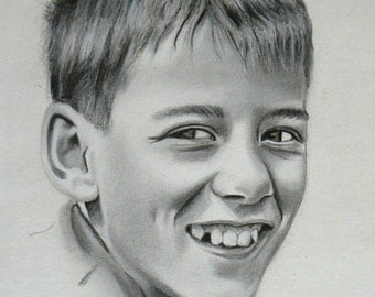Original PORTRAIT COMMISSION DRAWING, A4, A3, A2, Various Sizes Available, Charcoal on Paper, Challinor Art