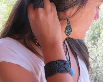 Celtic macrame bracelet, Celtic macrame Bracelet