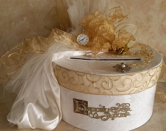 Wedding Card Box / Card Box / Memory Box / Wedding Card Box Ivory / Wedding Money Box / Keepsake / White /Cream / Ivory  / Wedding Reception