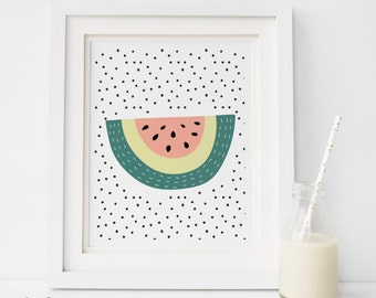 PDF SALE, Watermelon Print, Watermelon Art, Watermelon Illustration, Watermelon, Summer Print, Summer Art, Wall Art, Wall Print, modern art