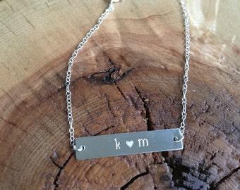 Hand-Stamped Custom Sterling Silver Bracelet-ID Bracelet, Name Bracelet, gift for her,
