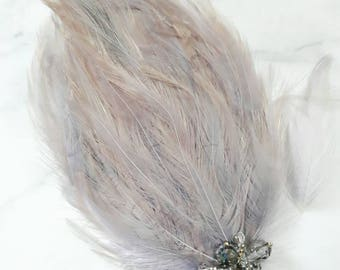 Headband, hair accessory, head piece, feather head piece,hair jewelry, fascinator,gift for her,bridal jewelry, bridal accessory,pink feather