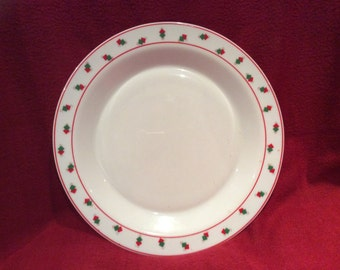 Arcopal Geometric Red and Green Squares Plate 26cm Diameter
