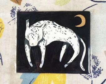 Snow Leopard - Mini Painting
