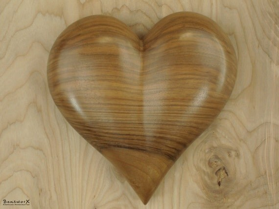 """Show your Love with this """"Beautiful"""" English Walnut Heart Wall Art 