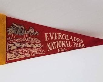 Everglades National Park, Florida - Vintage Pennant