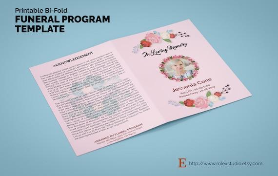 tri fold obituary printable bi fold funeral program template obituary template
